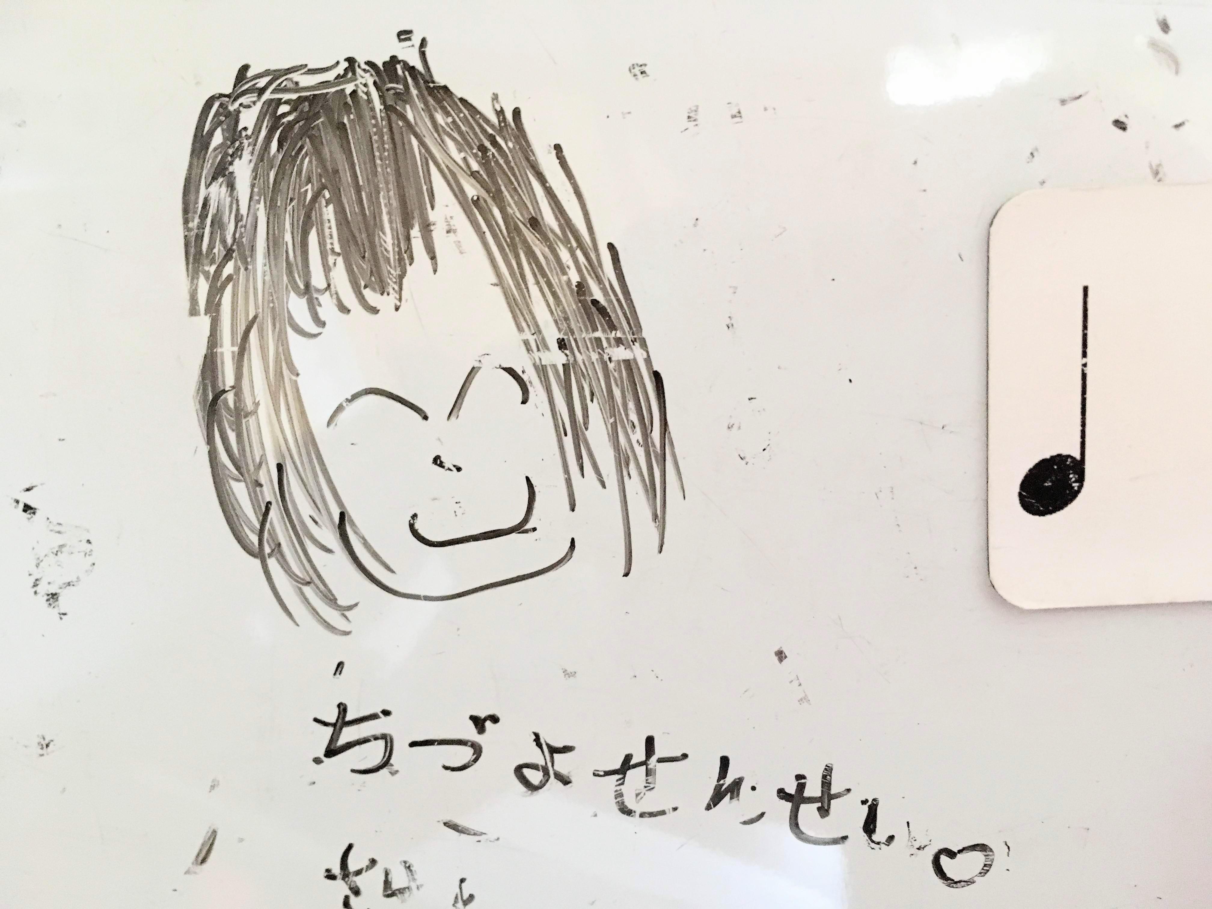 私の似顔絵 生徒さん作