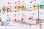 楽譜を読むよ~。丁寧に音符を読む手立てを取ろう。