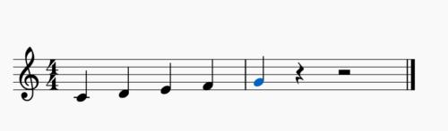 ト音記号のドレミファソの画像