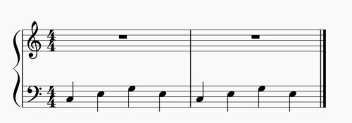 4秒子の楽譜