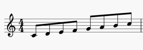 上行形の音