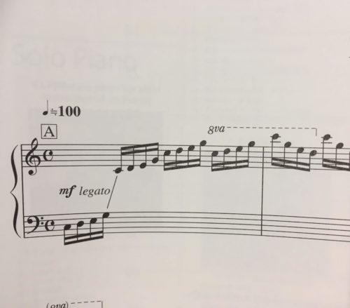 プレリュードの楽譜