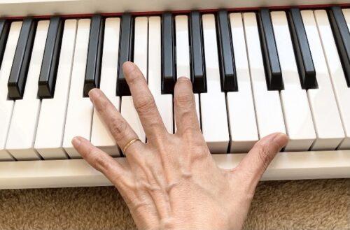 鍵盤の幅を感覚で掴む