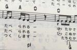 ピアノ譜がない時、ギター譜を使って弾き語りができます。