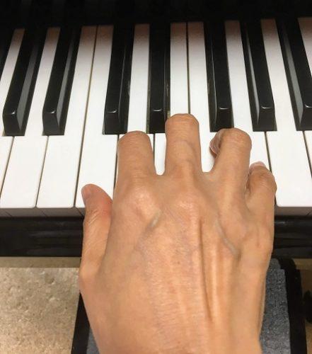 鍵盤1つに指1本