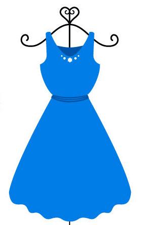 青いワンピース