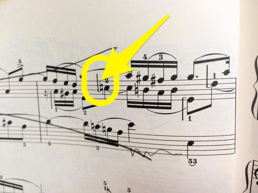 楽譜の左手表記 2019.9.22