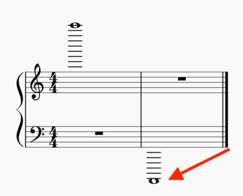 鍵盤の範囲 低音