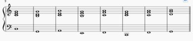 カノンコードの和音 両手 NO2