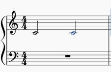 根音の二分音符