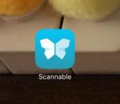 Scannableアプリの画像