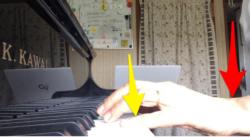 三連符の小指の位置