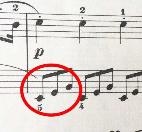 三連符の楽譜