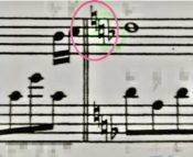 転調の調号の楽譜