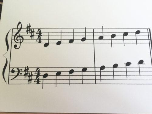二長調の音階