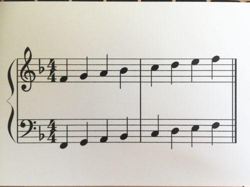 ヘ長調の音階