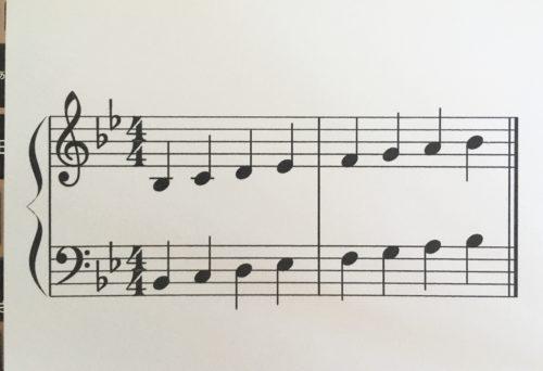 変ロ長調の音階