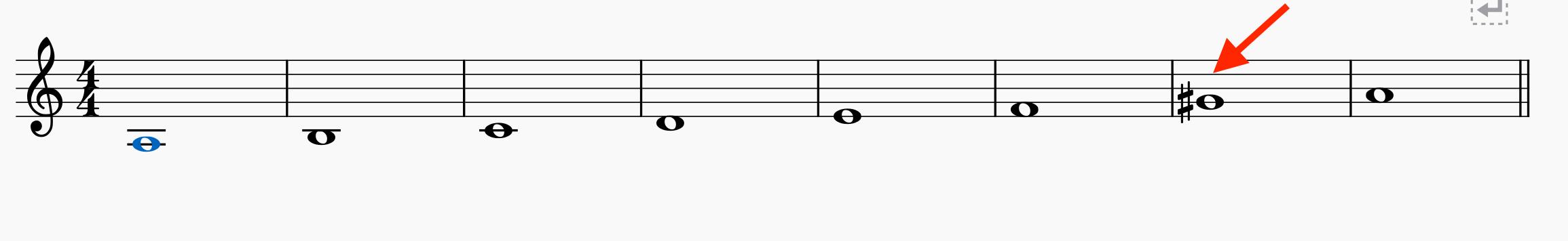 イ短調の和声短音階