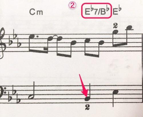 E♭:B♭コードの説明