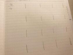 手書き小節線