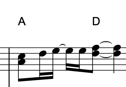 短い和音 楽譜
