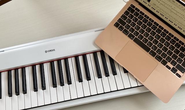 ピアノとパソコン