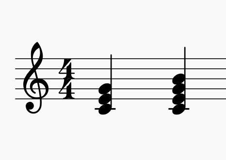 3〜4つの音