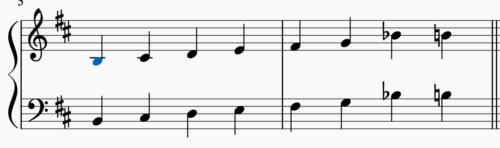 イ短調の音階 シャープ