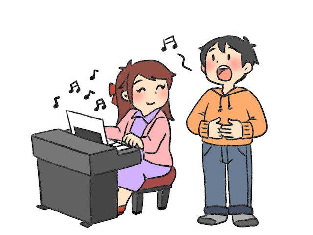歌うイラスト